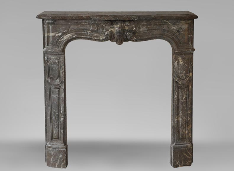 Antique Louis XV period fireplace in Red Royal marble, 18th century - Reference 3530