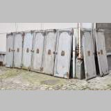 Antique set of eight industrial boiler room doors