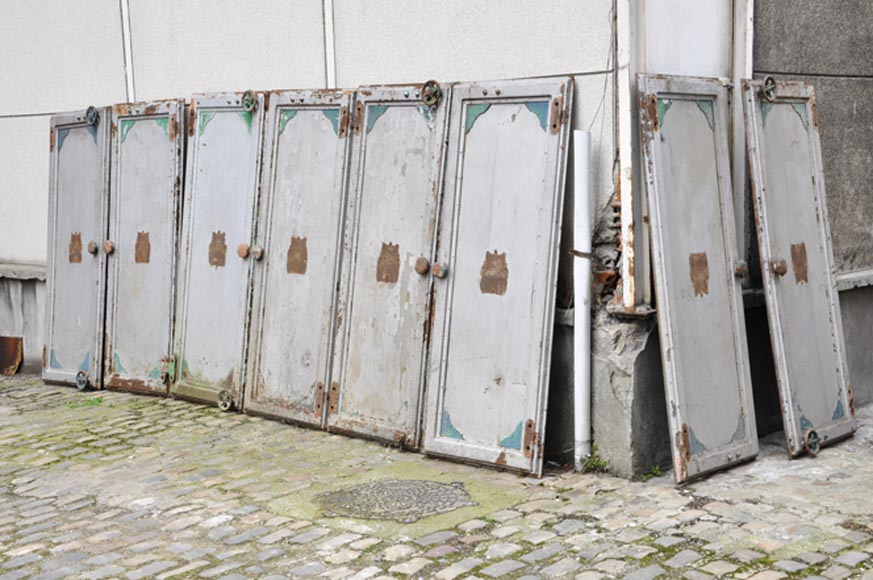 Antique set of eight industrial boiler room doors  - Reference 3563
