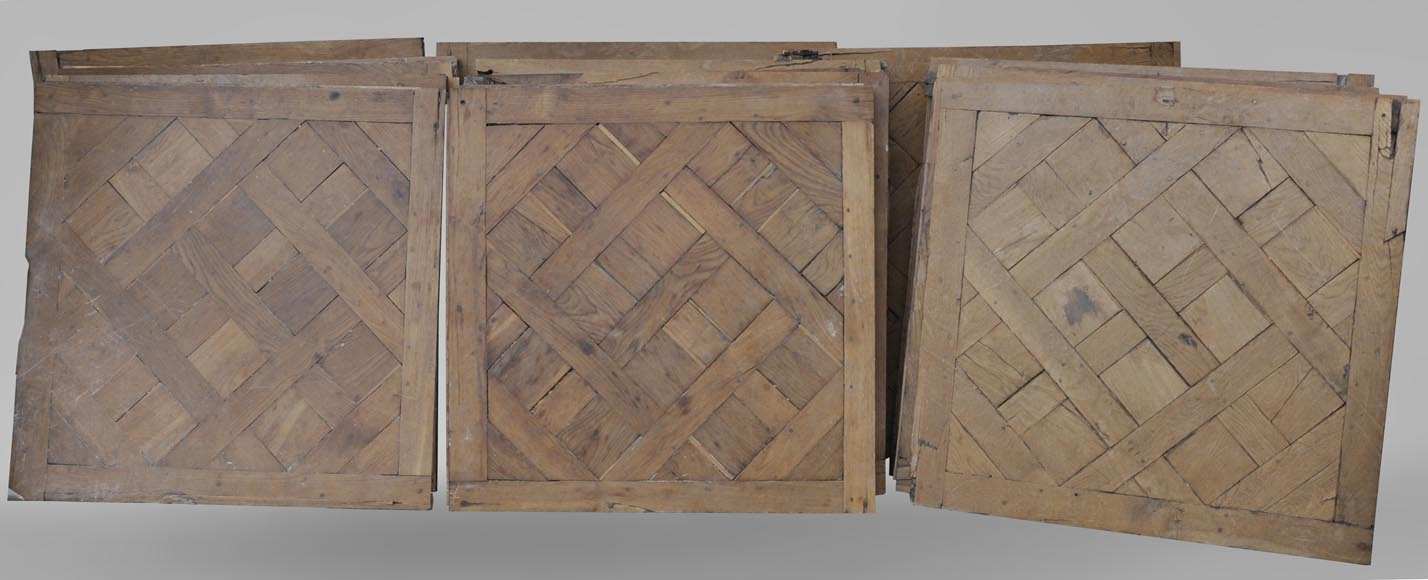 Set of 18th century Versailles oak parquet flooring-0