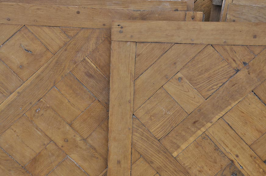 Set of 18th century Versailles oak parquet flooring-1