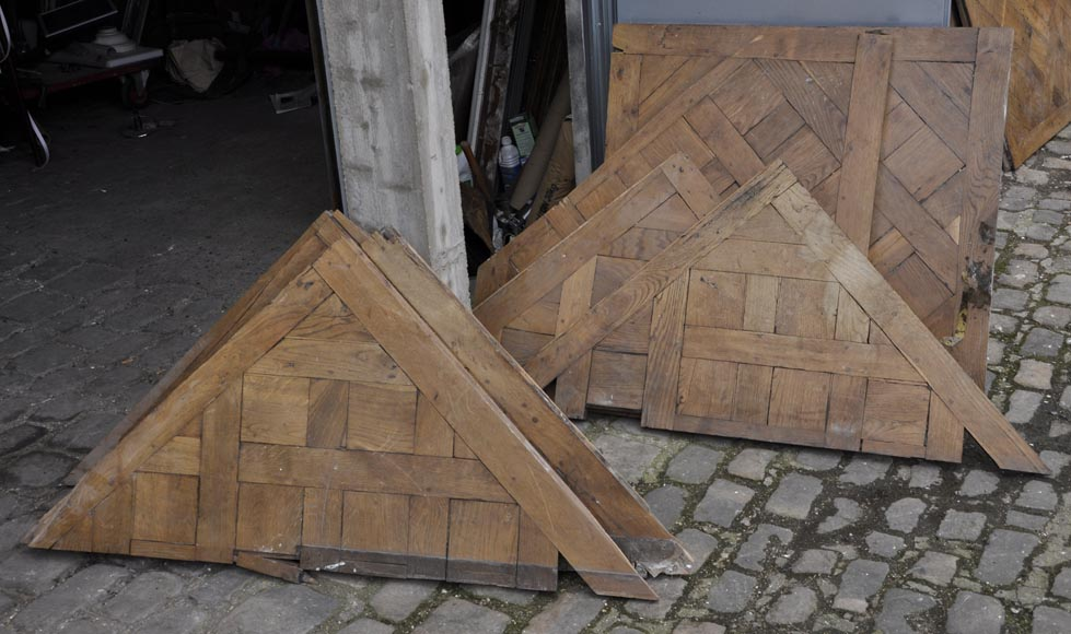 Set of 18th century Versailles oak parquet flooring-2