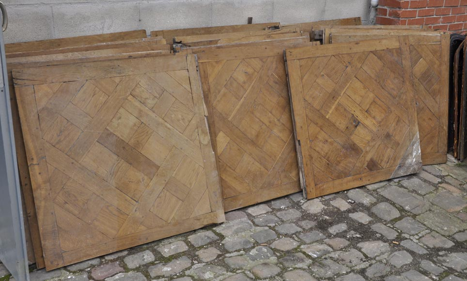 Set of 18th century Versailles oak parquet flooring-3