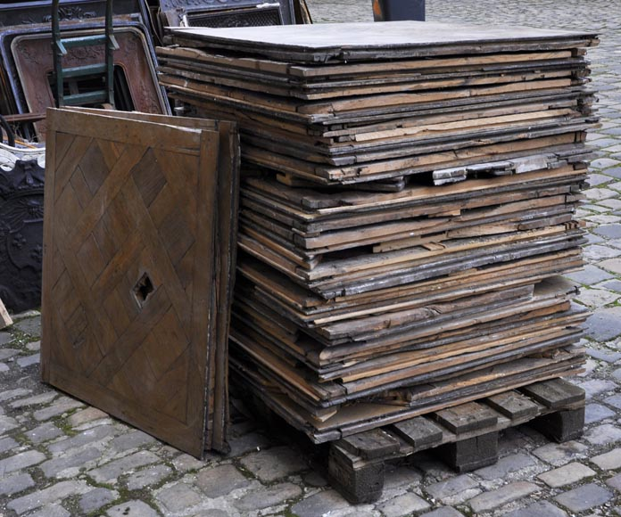Set of 18th century Versailles oak parquet flooring-4