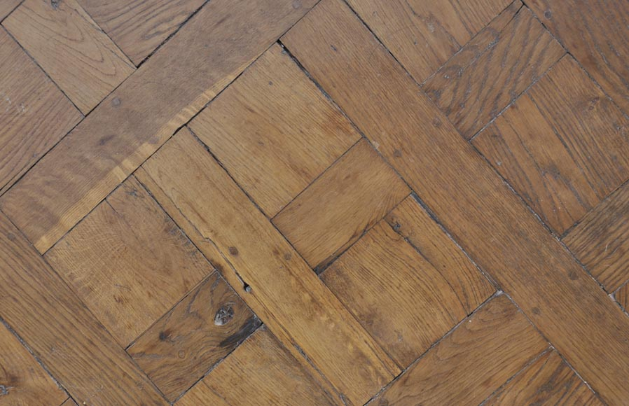 Set of 18th century Versailles oak parquet flooring-5