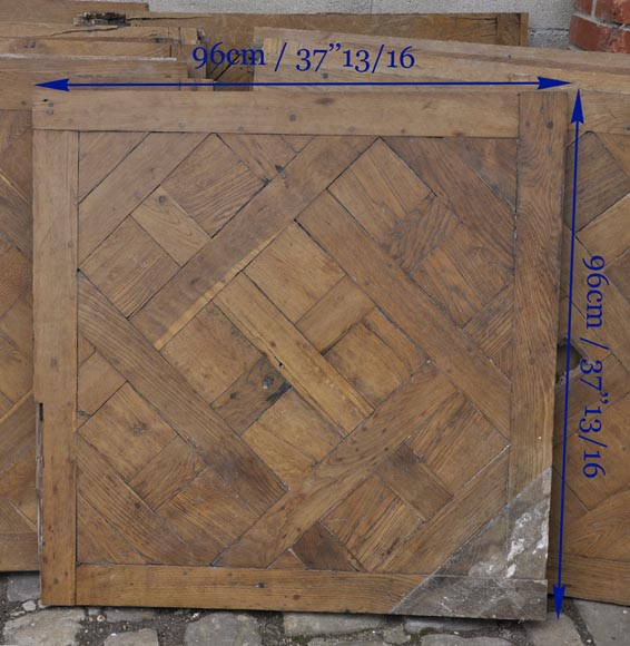 Set of 18th century Versailles oak parquet flooring-6