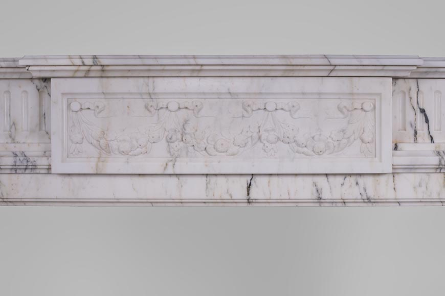 Beautiful Victorian style antique fireplace in Paonazzo marble-1