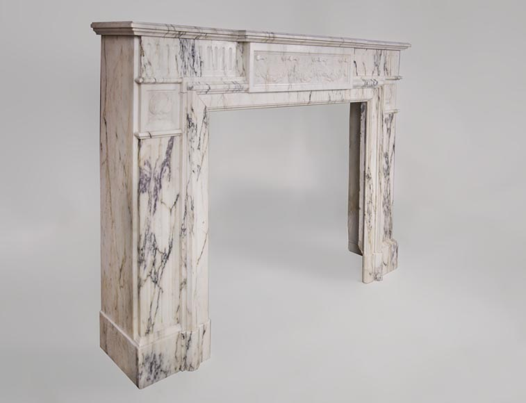 Beautiful Victorian style antique fireplace in Paonazzo marble-2