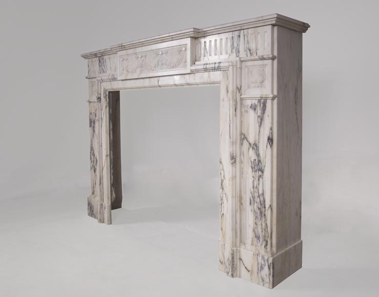 Beautiful Victorian style antique fireplace in Paonazzo marble-6