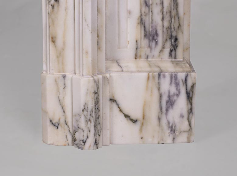 Beautiful Victorian style antique fireplace in Paonazzo marble-7