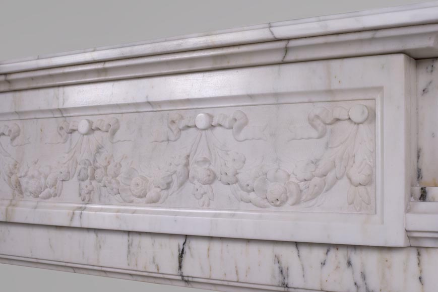 Beautiful Victorian style antique fireplace in Paonazzo marble-8