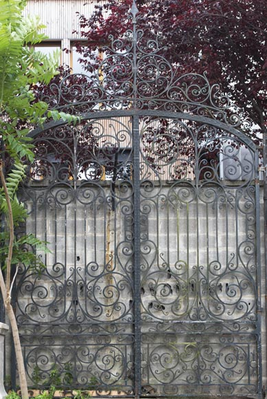Important ironwork gate adorned with volutes-1