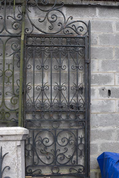 Important ironwork gate adorned with volutes-6