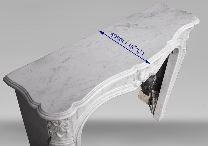 An antique Louis XV style fireplace, made out of Carrara marble-9