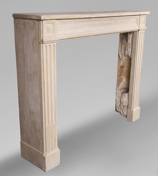 Antique stone fireplace in the Louis XVI style-2
