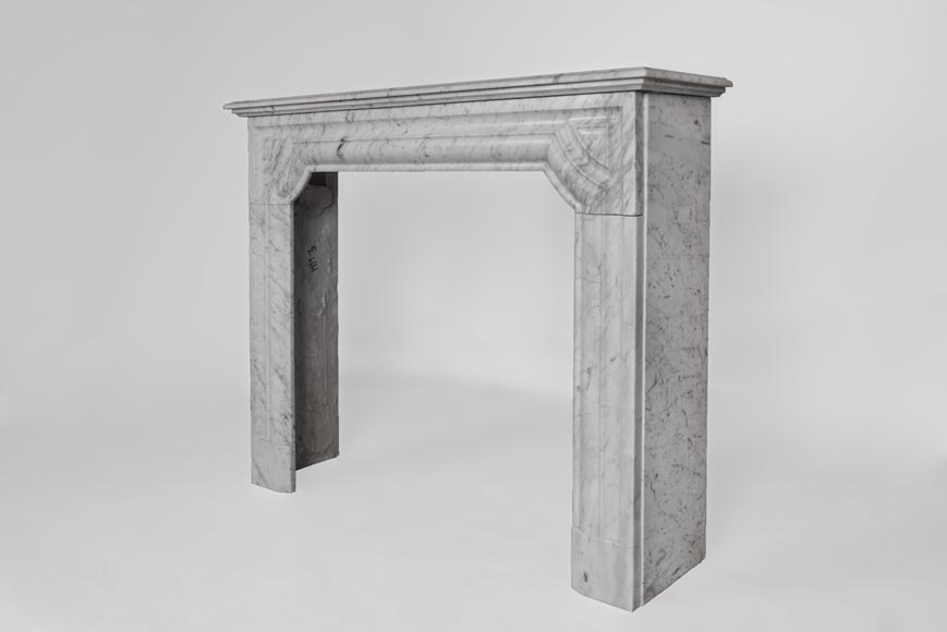 An antique Louis XIV style fireplace made out of Carrara marble-5