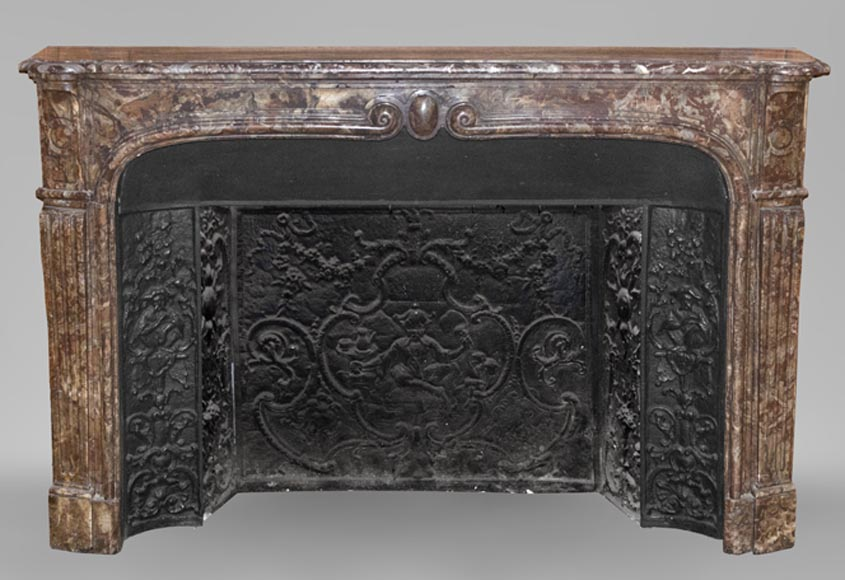 Large antique Louis XV period in Rouge Royal-0