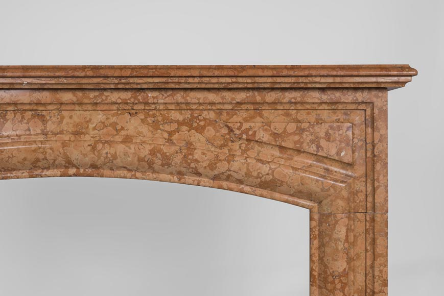 An antique Louis XIV style fireplace made out of Rosso di Verona marble-6