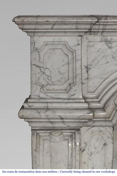 An antique Regence style fireplace made out of Carrara marble-1