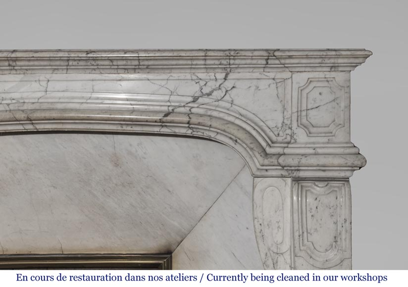 An antique Regence style fireplace made out of Carrara marble-2