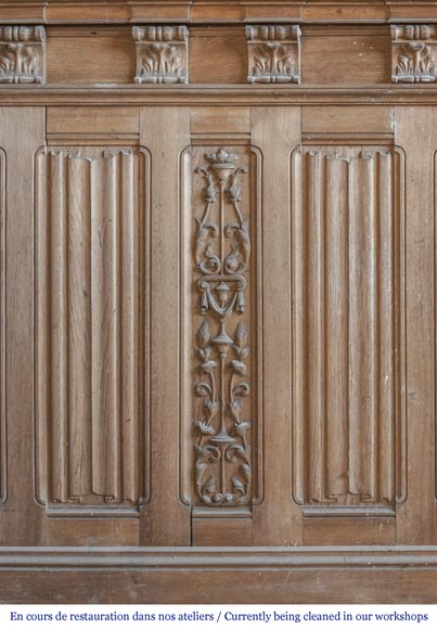 A beautiful set of carved wood two doors and dadoes-9
