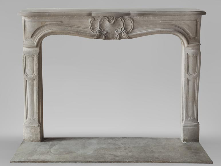 Beautiful antique Louis XV style fireplace made out of stone-0