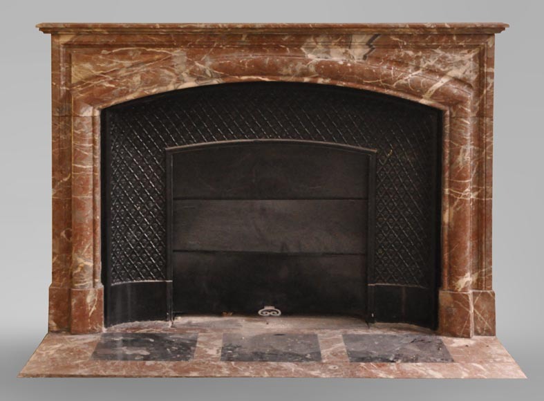 An antique Louis XIV style fireplace, made out of Rouge Royal marble-0