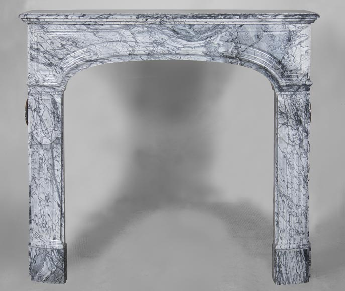 An antique Regency style fireplace, made out of Bleu Fleuri marble-0