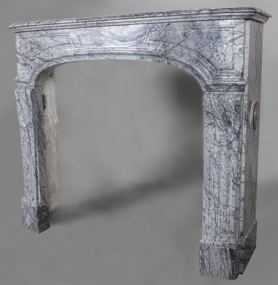 An antique Regency style fireplace, made out of Bleu Fleuri marble-5
