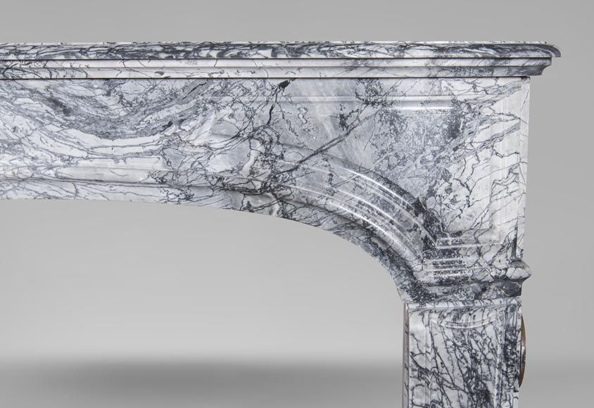 An antique Regency style fireplace, made out of Bleu Fleuri marble-6
