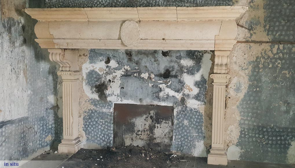 An important 17th century stone fireplace-2