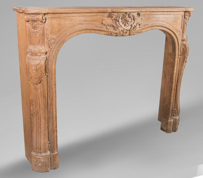 Oak fireplace in the Louis XV style, from the 19th century-3