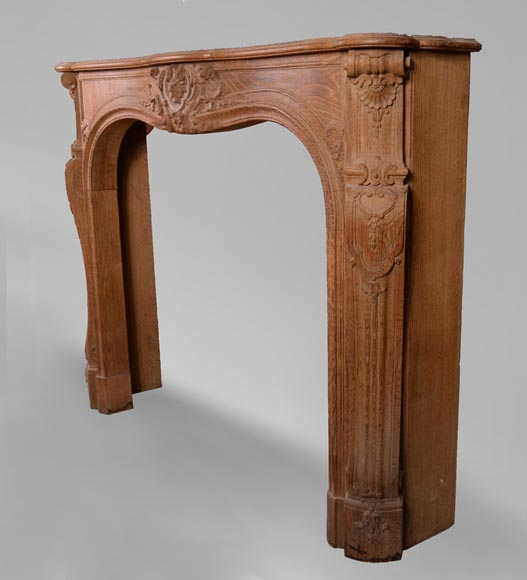 Oak fireplace in the Louis XV style, from the 19th century-7