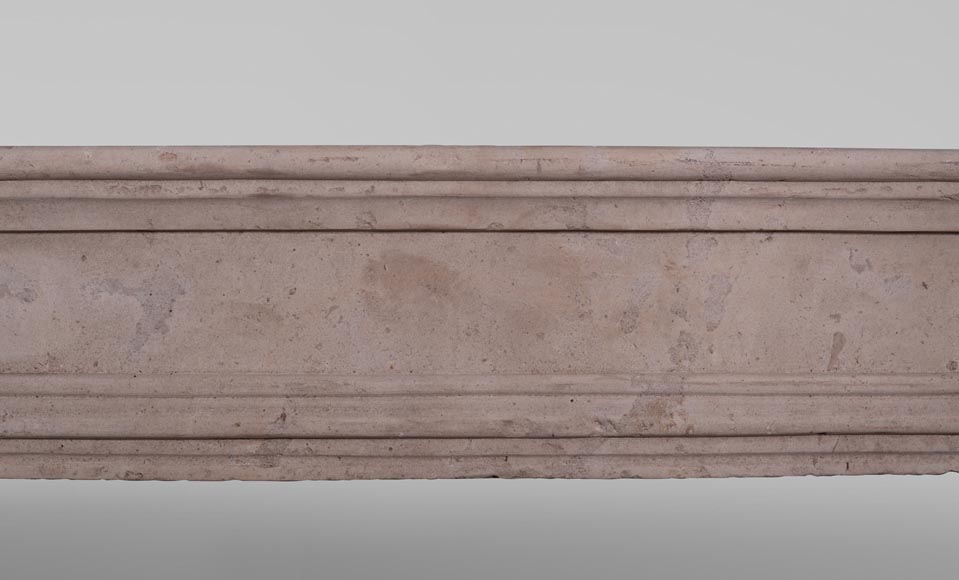 19th century Burgundian fireplace made out of stone-1