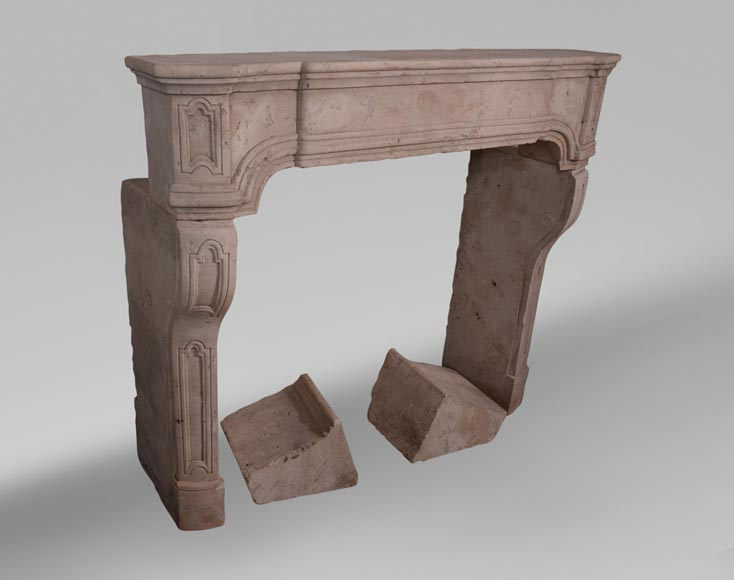 19th century Burgundian fireplace made out of stone-2