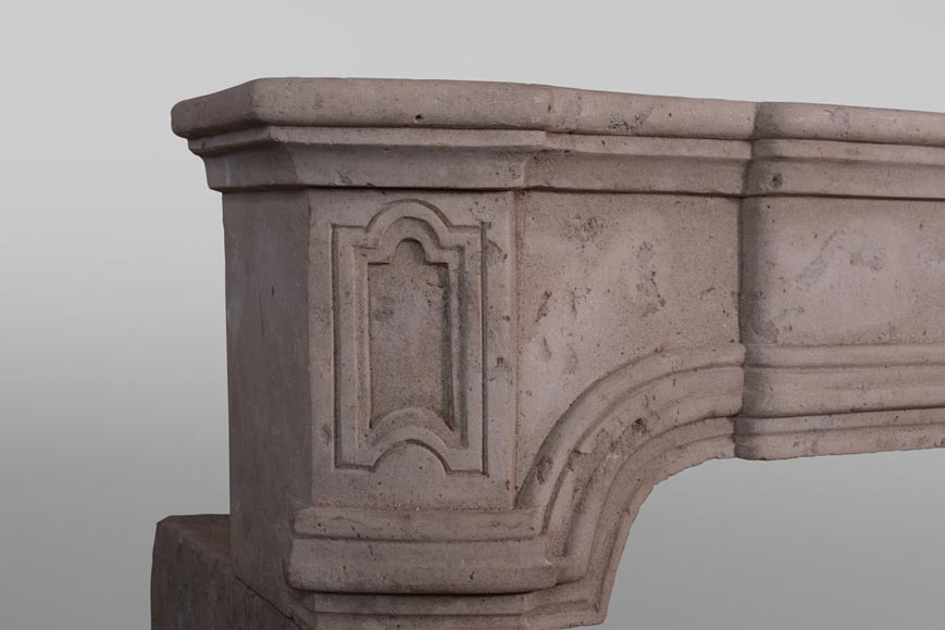 19th century Burgundian fireplace made out of stone-3