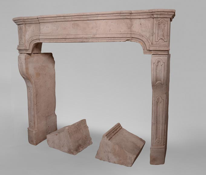 19th century Burgundian fireplace made out of stone-5