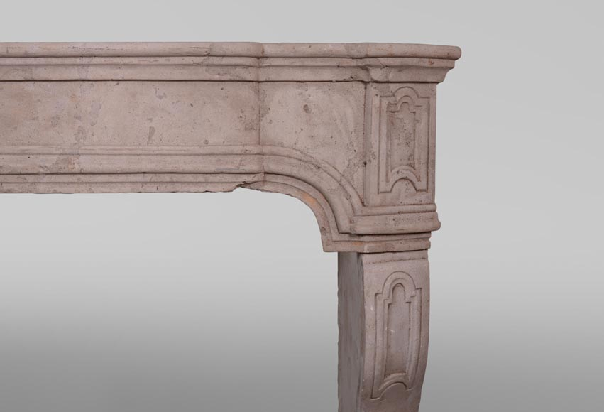 19th century Burgundian fireplace made out of stone-6