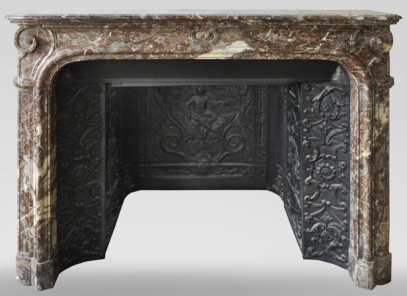 An antique Regence style fireplace made out of Rouge Royal marble-0