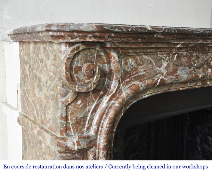 An antique Regence style fireplace made out of Rouge Royal marble-3