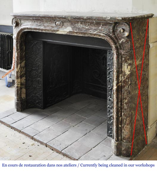 An antique Regence style fireplace made out of Rouge Royal marble-5