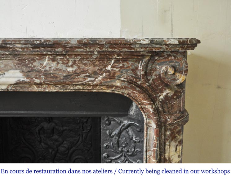 An antique Regence style fireplace made out of Rouge Royal marble-6
