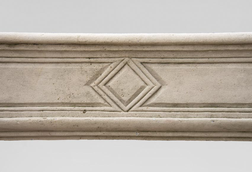 19th century Regency style fireplace made out of stone-1