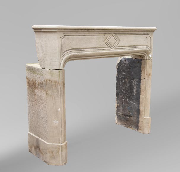 19th century Regency style fireplace made out of stone-2