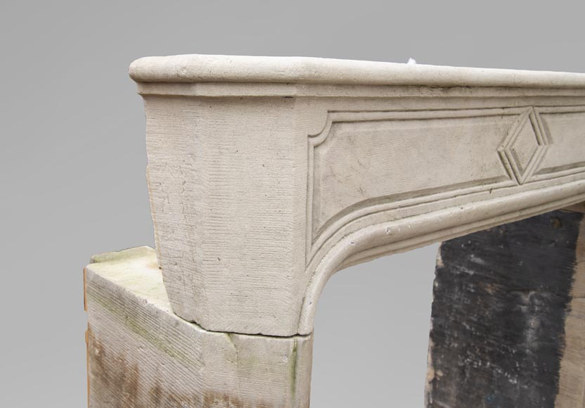 19th century Regency style fireplace made out of stone-3