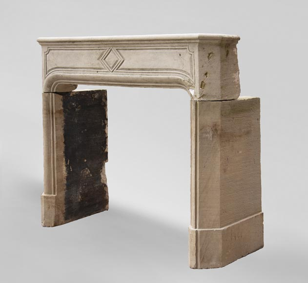 19th century Regency style fireplace made out of stone-5
