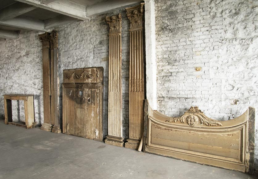 Set of Louis XVI period woodwork elements-0