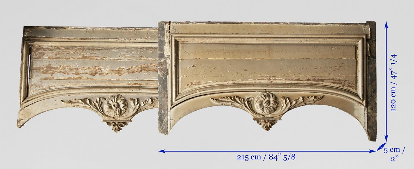 Set of Louis XVI period woodwork elements-12