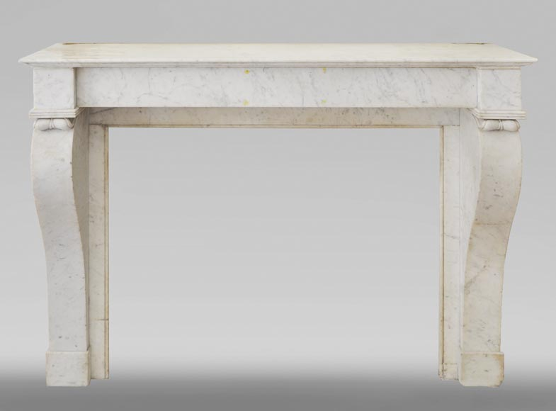 Antique Restoration style fireplace in Carrara marble-0
