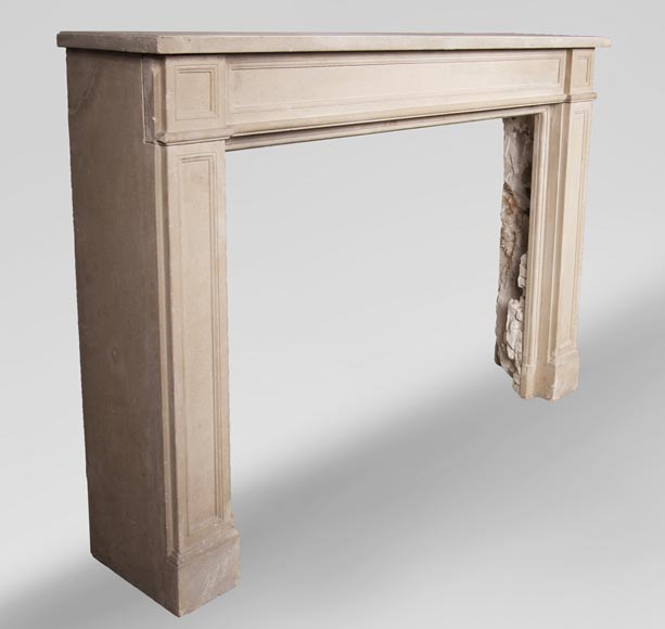 Antique Louis XVI style fireplace made of stone-2